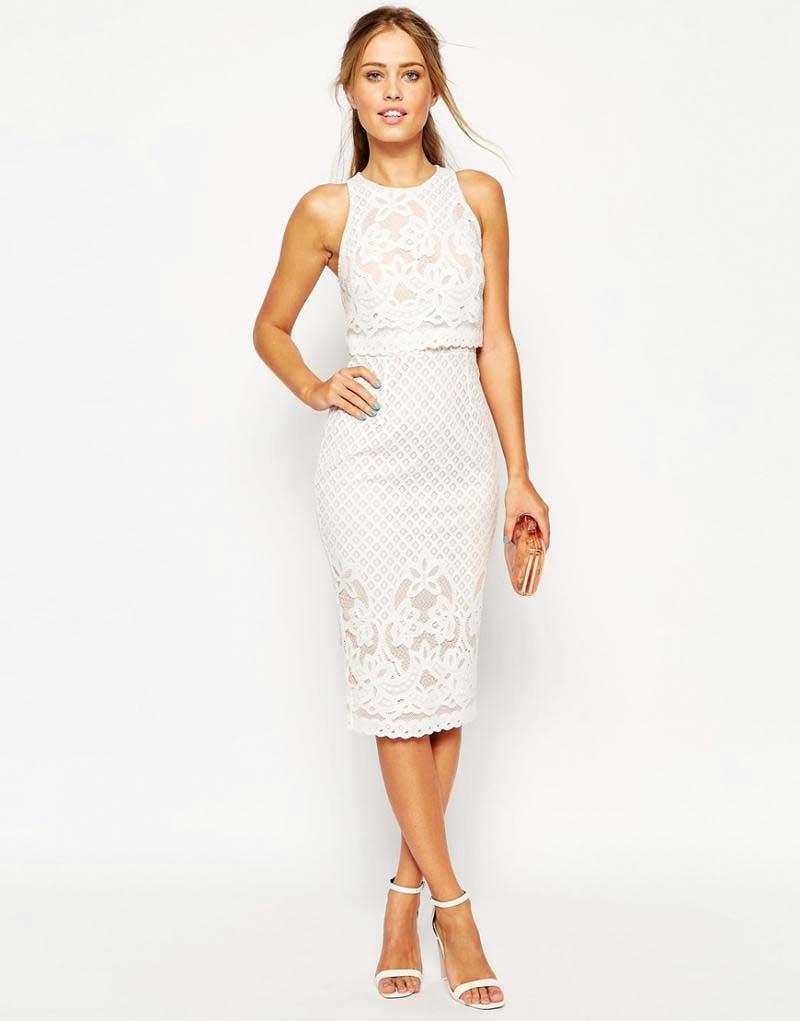 мереживна сукня олівець, біла сукня, дівчина в мереживній сукні